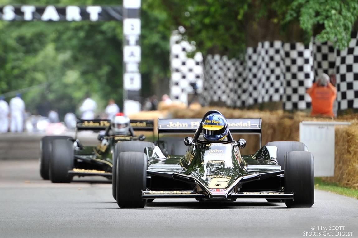 Ex-Ronnie Peterson and Mario Andretti Lotus 79 Formula 1