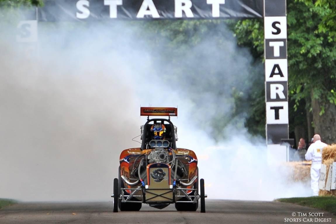 Altered Dragster lights it up