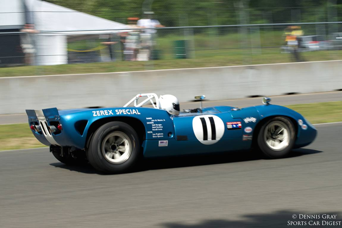Marc Davise in his Lola T70.