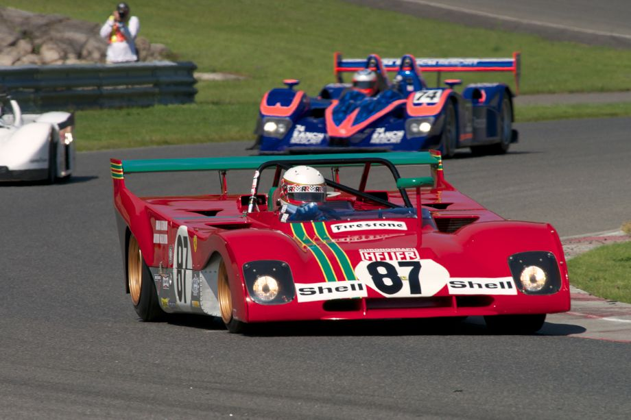 Steven Read's 1972 Ferrari 312PB in turn fifteen.
