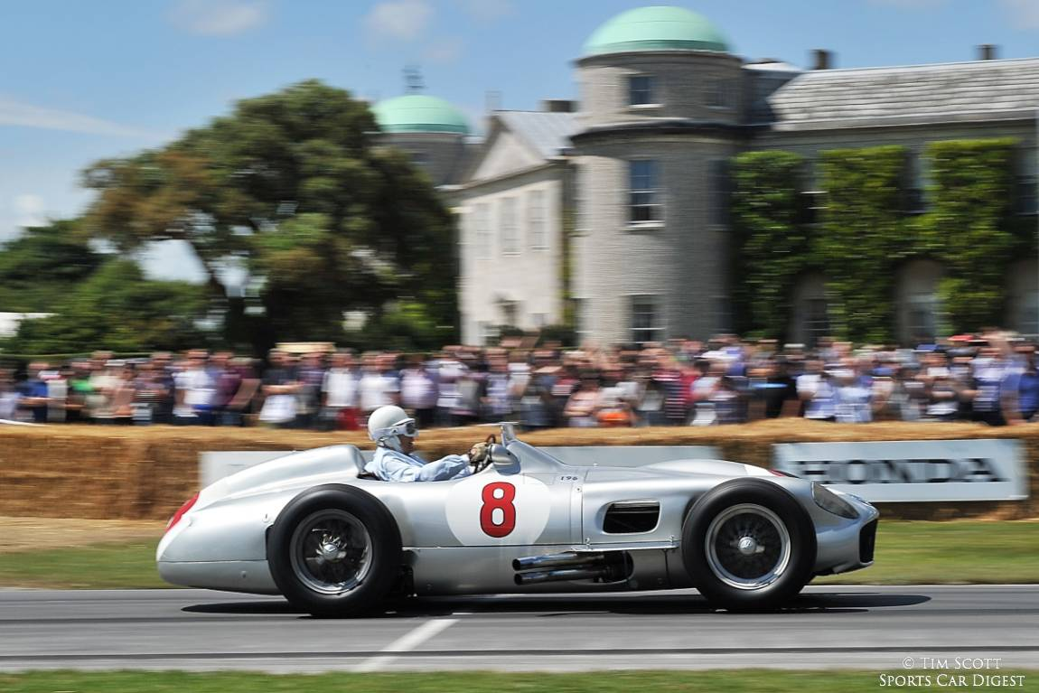 Sir Stirling Moss behind wheel of the Mercedes-Benz W 196
