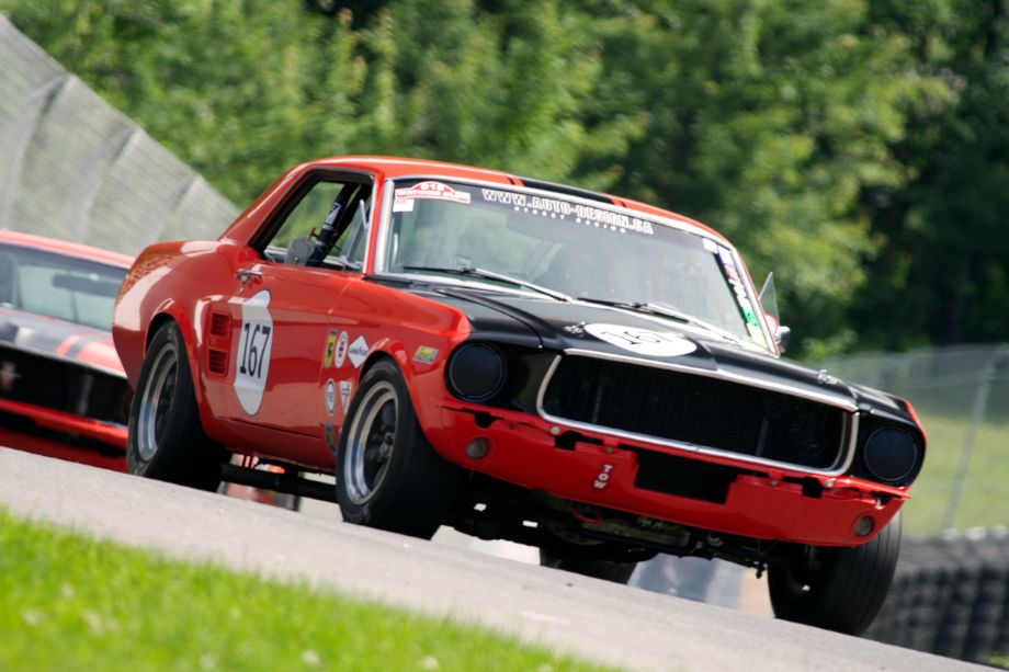 Paul Bissonnette's 1967 Ford Mustang in turn twelve.