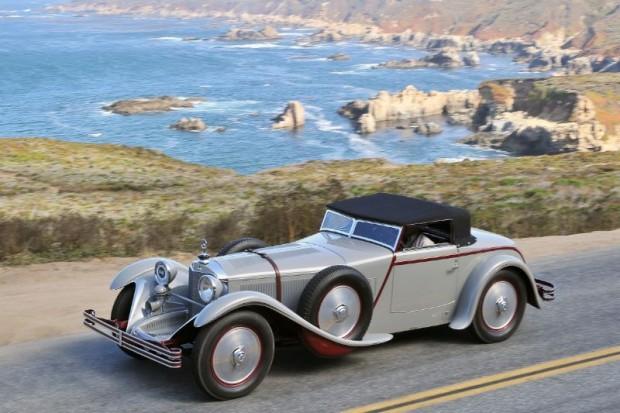 1928 Mercedes-Benz 680S Saoutchik Torpedo on the Pebble Beach Tour d'Elegance