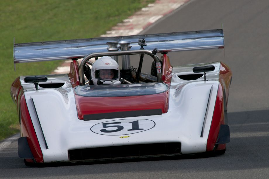 Claude Malette's Lola T222 in the Gulch.
