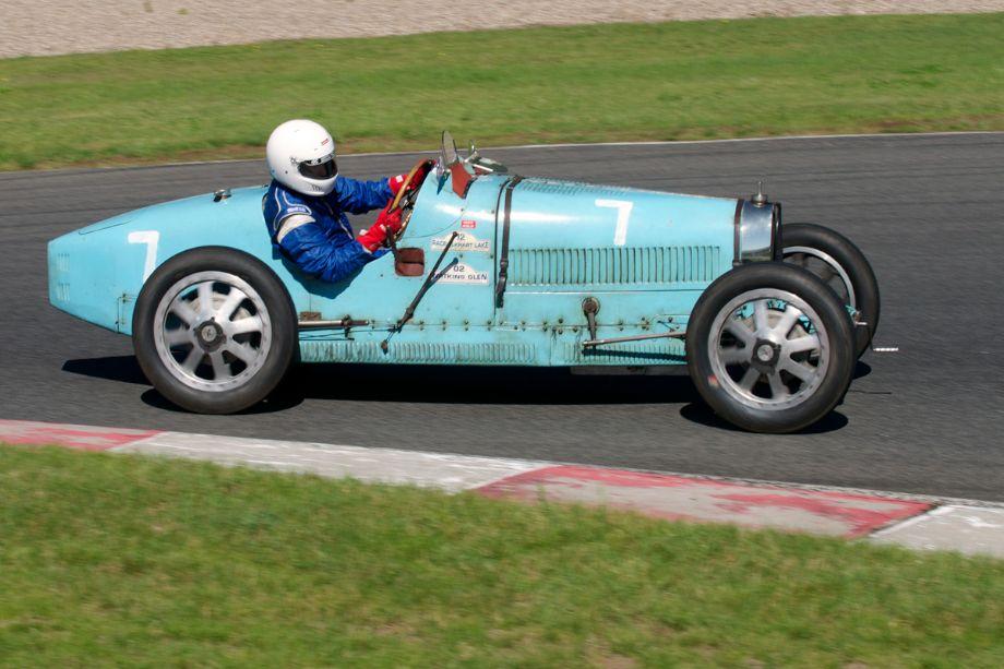 Nathael Greene's 1925 Bugatti in turn fourteen.