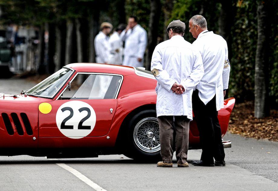 Inspecting the Ferrari 250 GTO of Nick Mason