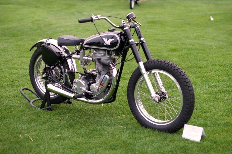 500cc single 1957 Matchless Flat Track Racer.