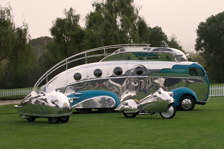 Randy Grubb's custom modified bikes and transporter.