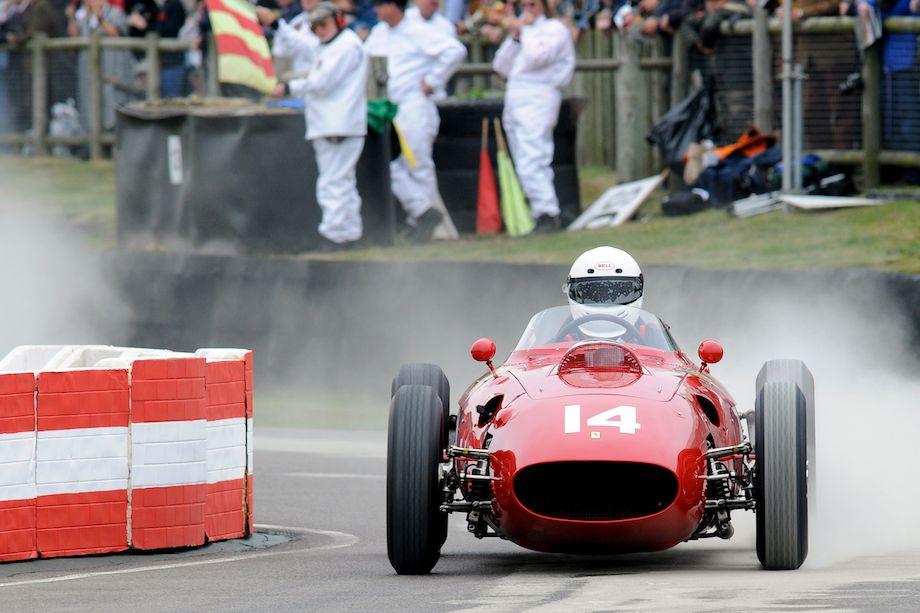 Ferrari 246 F1 through the esses