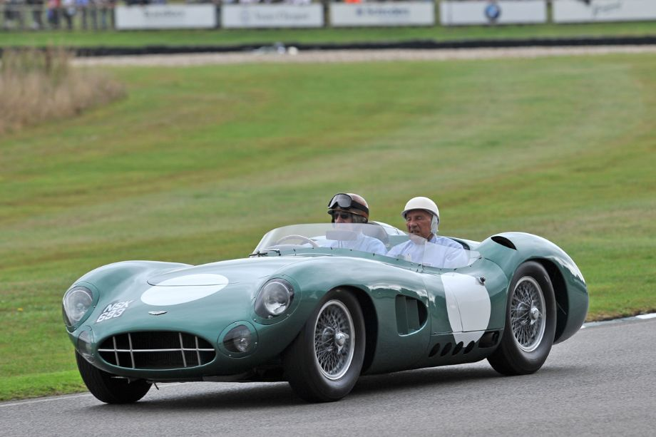 Tony Brooks and Sir Stirling Moss in the Aston Martin DBR1