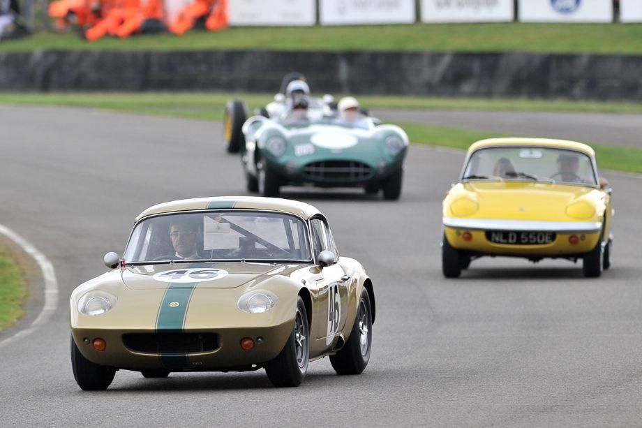 Ex-factory Lotus Elan 26R and Clark's personal Lotus Elan S3 Coupe
