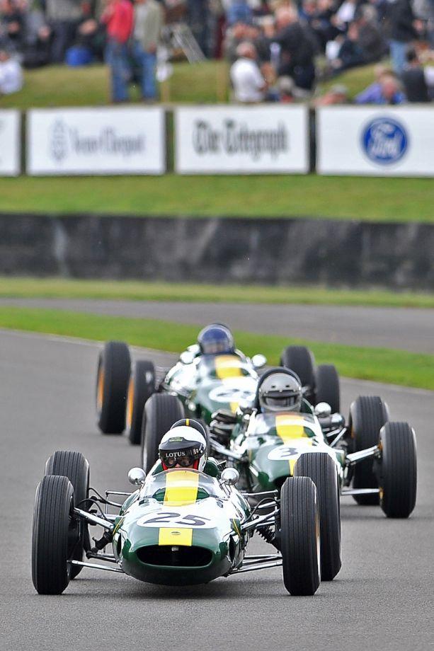 Trio of ex-Jim Clark Lotus Grand Prix race cars