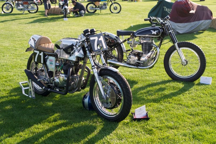 Triumph Daytona Special and Matchless Flattrack racer.