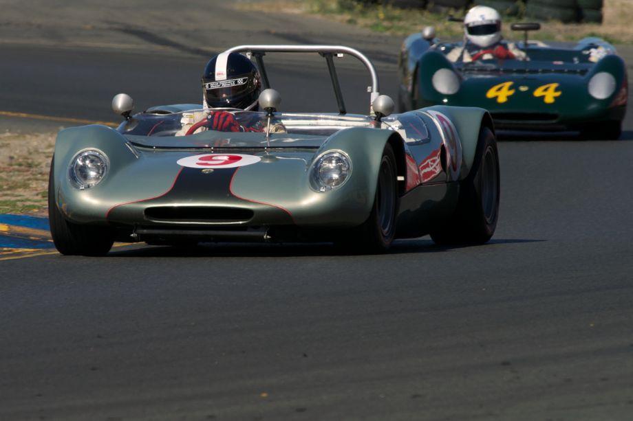 Jeffrey Abramson's 1966 Lotus 23C exiting turn ten.