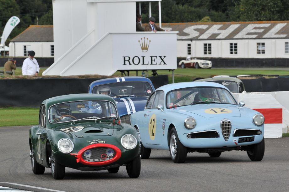 Rochdale GT, Alfa Romeo Giulietta Sprint Veloce and Aston Martin DB2/4 MkIII