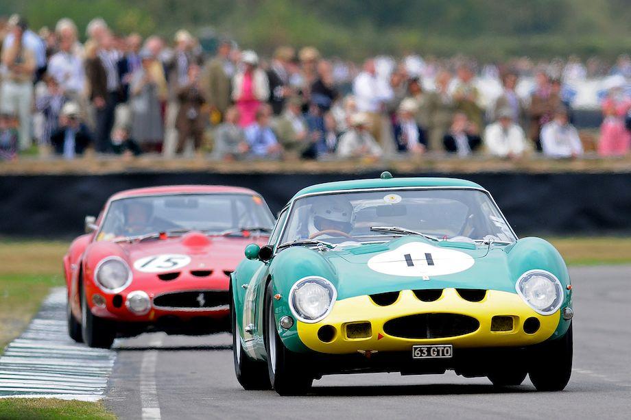 Ferrari GTO times two - a 250 GTO followed by a 330 GTO