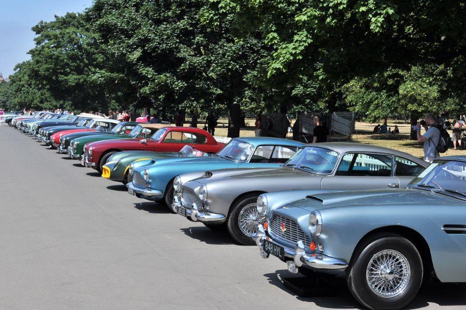 Post-War Aston Martin line-up