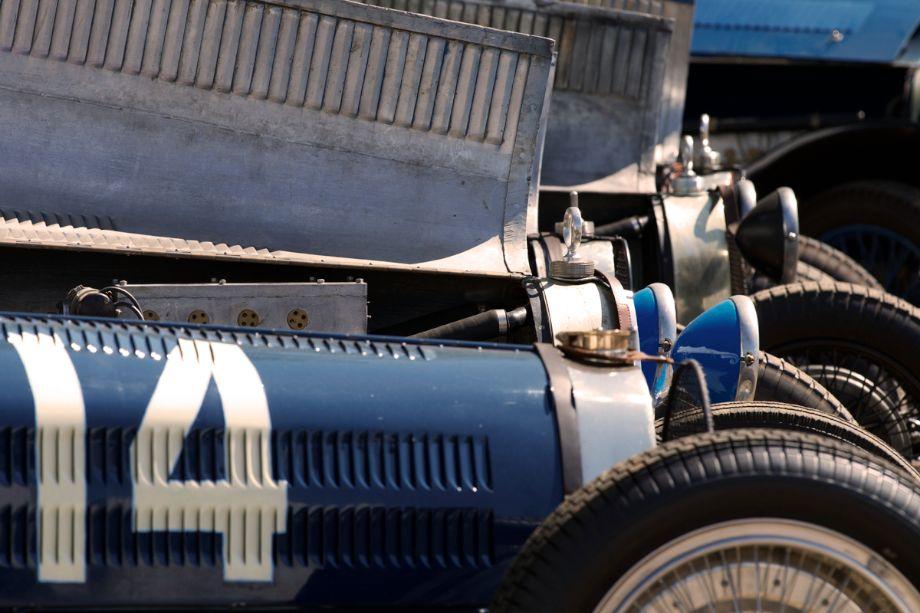 Bugatti line up.