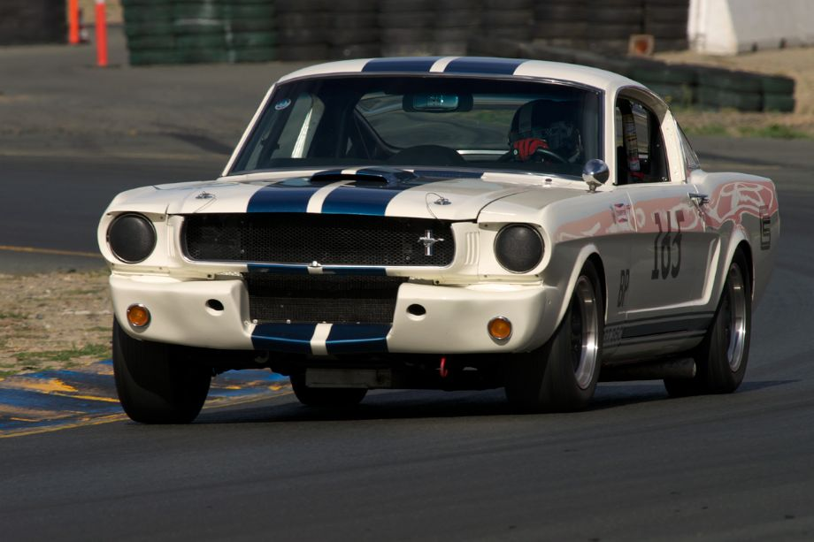Jeffrey Abramson's Shelby GT350 exits turn ten early Sunday morning.
