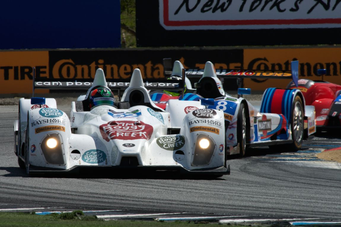 PR1/Mathiasen Motorsports ORECA FLM09 driven by Frankie Montecalvo and Gunnar Jeanette.