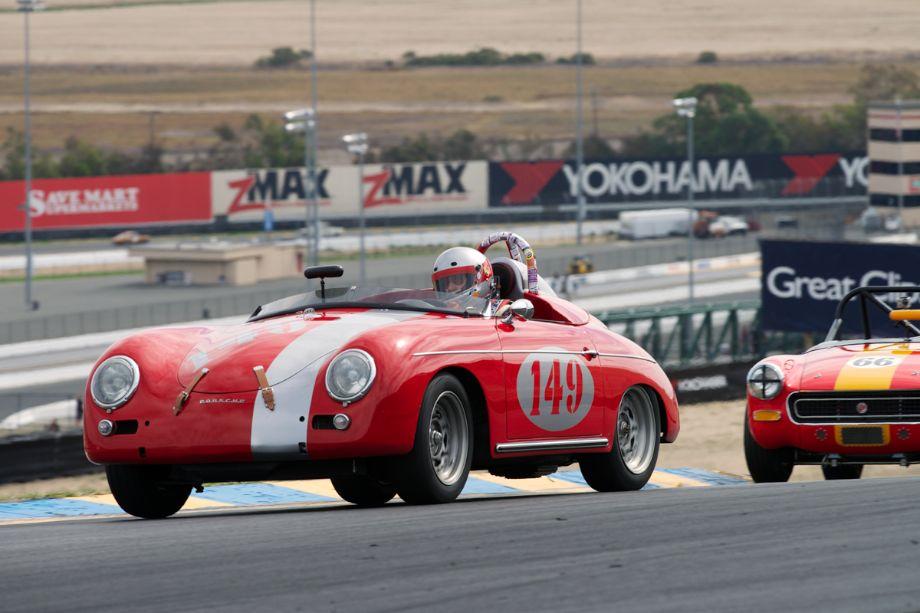 Porsche D Convertible driven by Leonard Turnbeaugh in turn three.