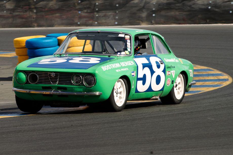 John Norman's 1971 Alfa Romeo GTV in turn eleven.