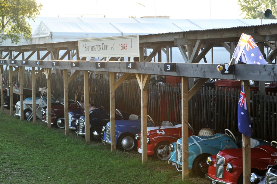 Austin J40 pedal cars at Goodwood Revival 2013 - Behind the Scenes