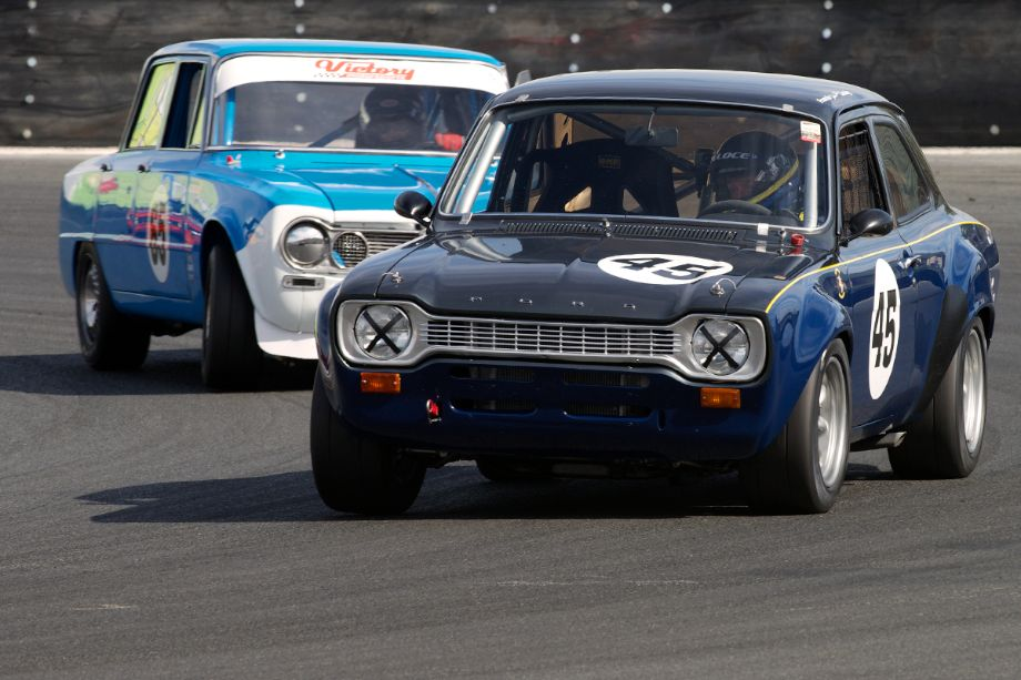 These two put on a good race Sunday. Francois Castaing in his 1970 Ford Escort RS and Ted Kattchee in his Alfa Romeo.
