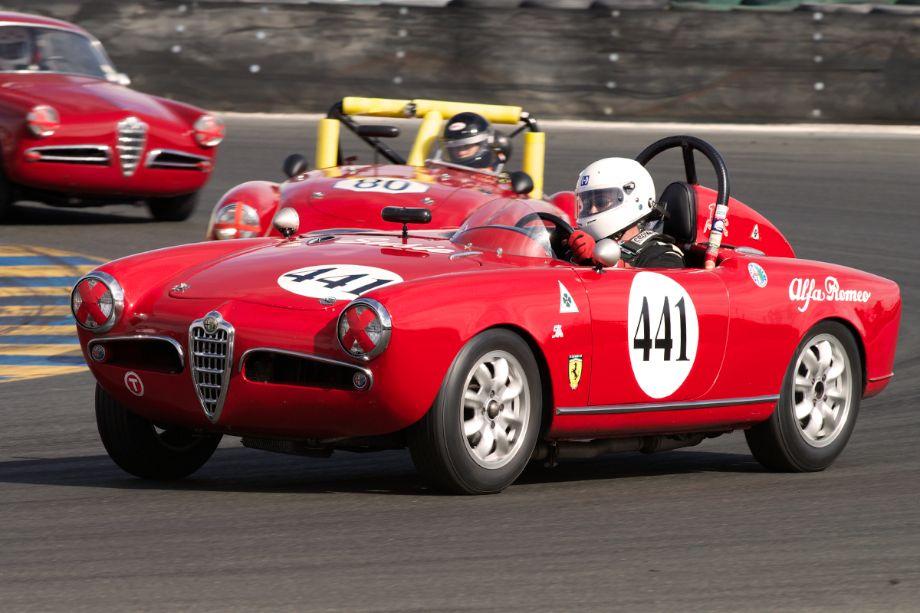 1956 Alfa Romeo Spider driven by David Buchanan.