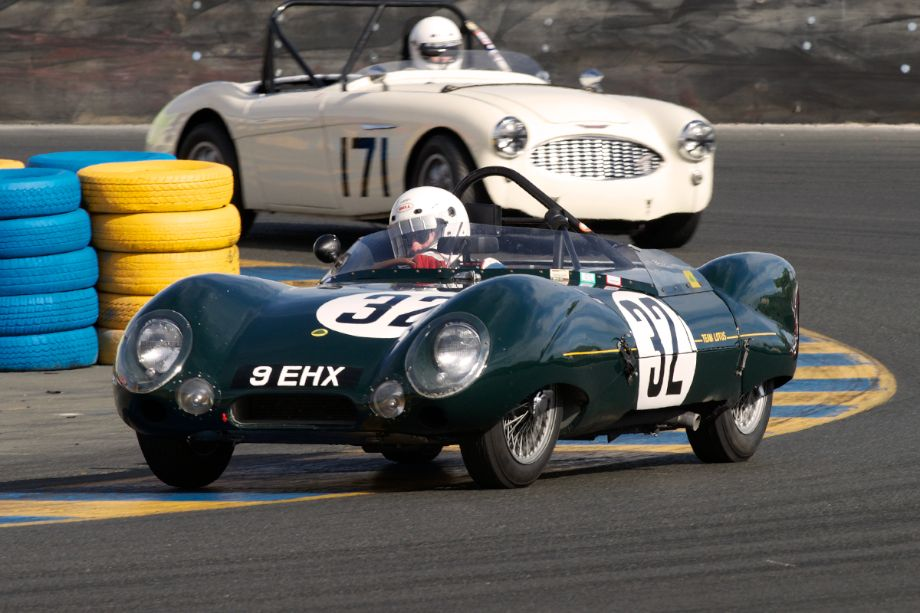 Stan Anderes in his ex-Works 1956 Lotus Eleven