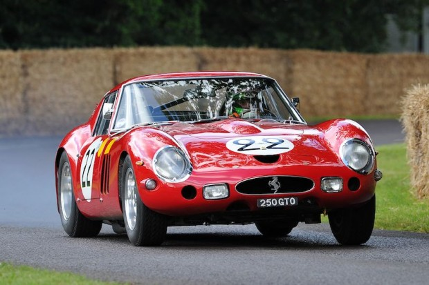 Nick Mason's 1962 Ferrari 250 GTO (s/n 3757GT) was piloted by his son-in-law, Marino Franchitti. In period, the GTO finished 2nd overall at the 1962 24 Hours of Le Mans.