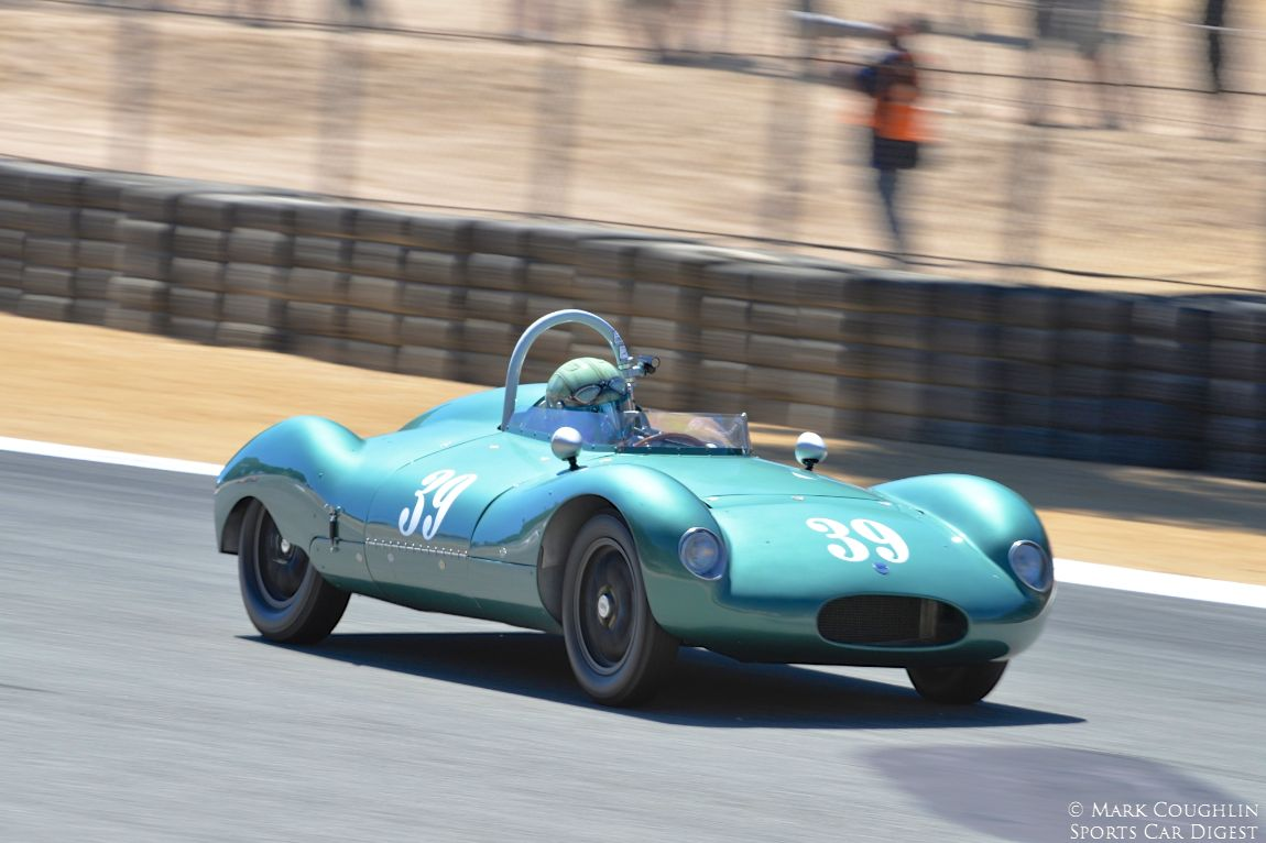 The 1956 Cooper T-39 Bobtail of Jimmy Domingos won the Ken Miles Trophy for the best representation of a vintage car under 1500cc