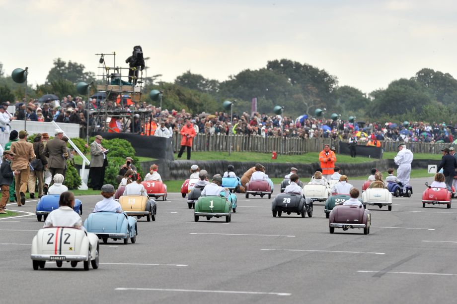 Austin J40 pedal car race at Goodwood Revival 2013 - Behind the Scenes