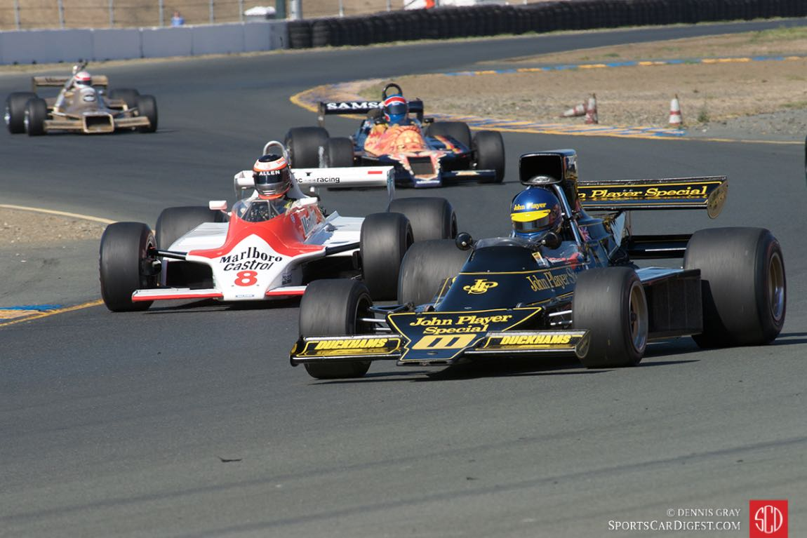 Andrew Beaumont - Lotus 76 and Sean Allen - 1980 McLaren M30