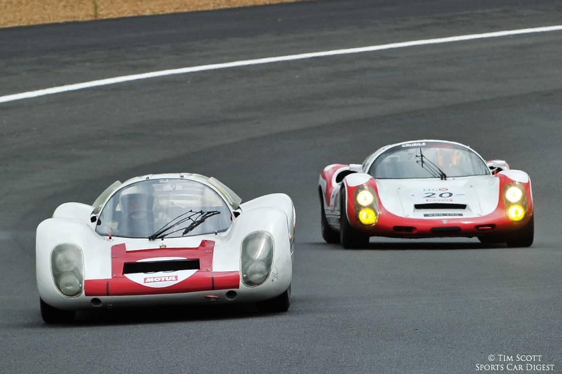 1967 Porsche 907 and 1967 Porsche 910