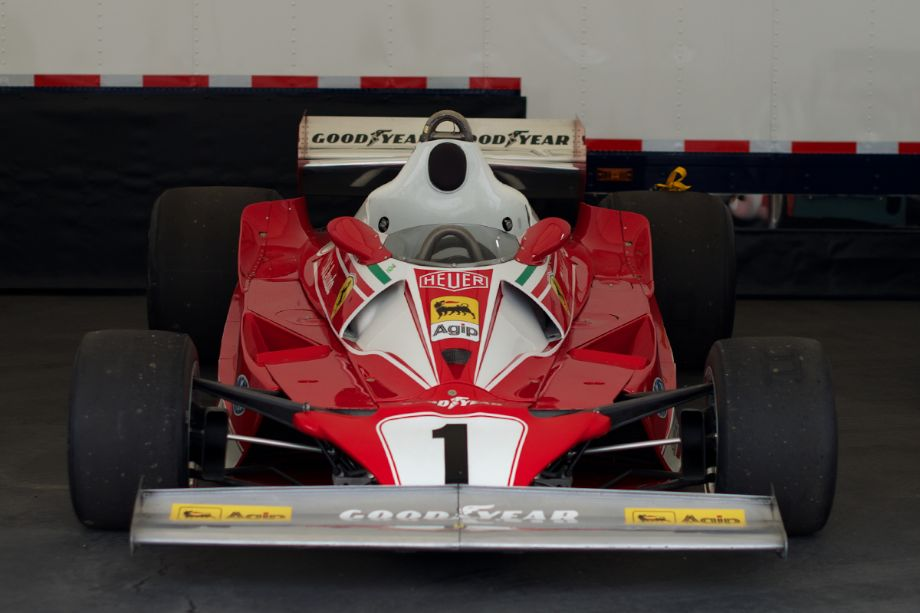 Just inside the gate to the right is this Ferrari F1.
