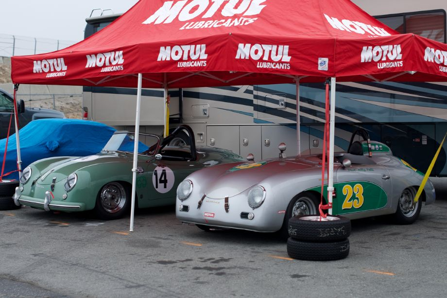 Two early Porsches.