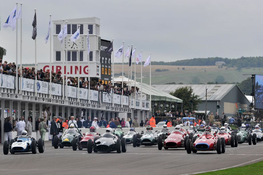 Start of the Richmond Trophy Race at 2013 Goodwood Revival