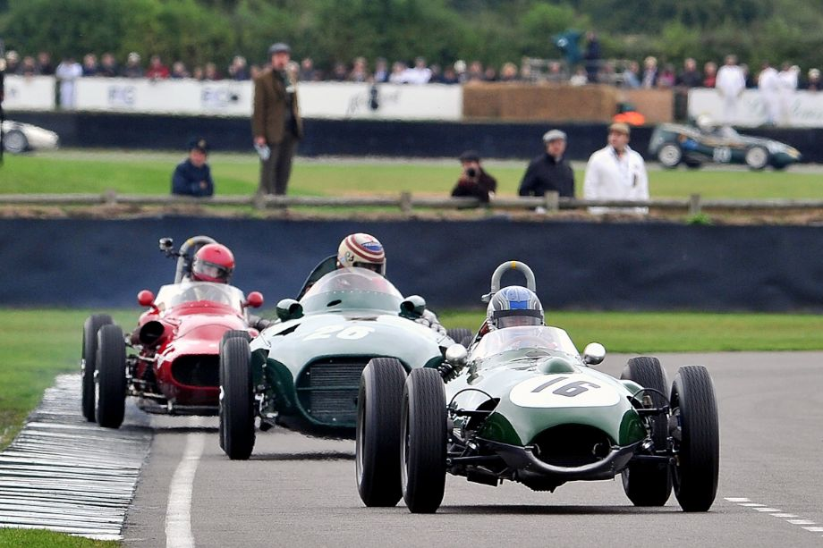 Lotus-Climax 16, Vanwall VW7 and and Tecnica Meccanica Maserati 250F