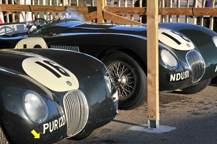 C-Type Jaguars at Goodwood Revival 2013