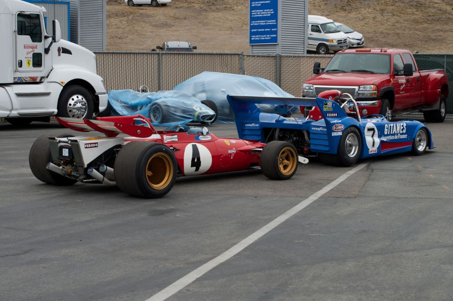 Ferrari F-1, Lola, Eagle F-1, LW Jaguar XKE all pushed aside.