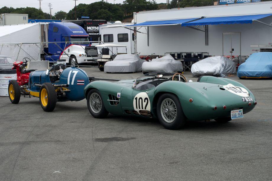 ERA Type B and an Aston Martin DBR2.