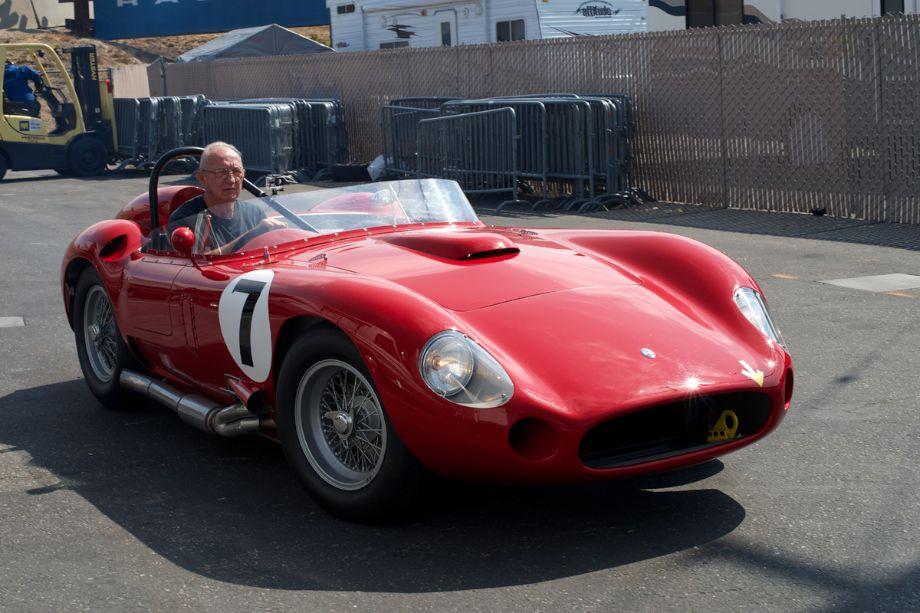 Maserati 450S comes off its transporter.