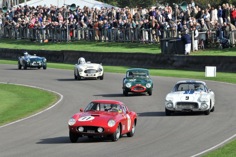 Ferrari 250 GT Tour de France, Chevrolet Corvette, Rochdale GT, Austin-Healey 100/6 and AC Ace