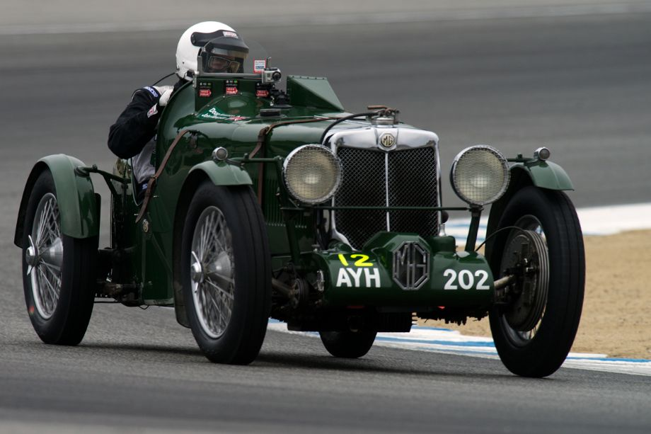 John Hampson exits turn two in his 1934 MG K3 Magnette.