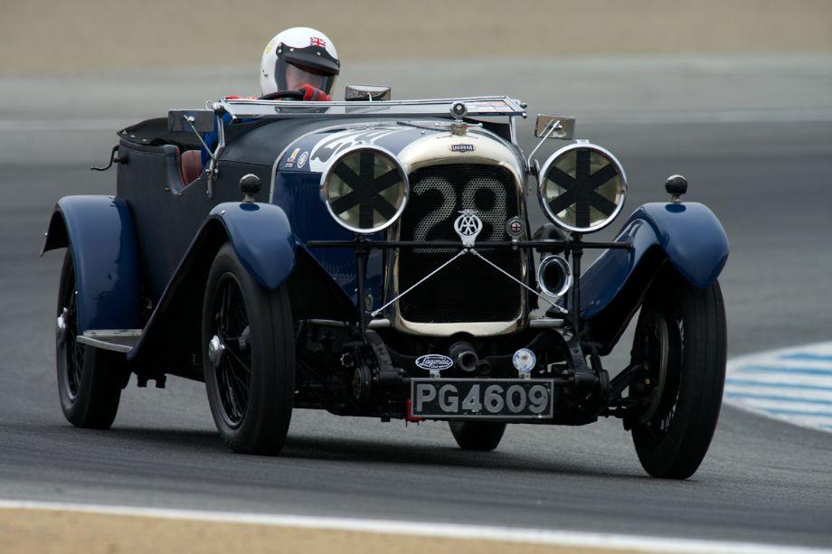 Graham Wallis in his 1929 Lagonda 2 Litre Speed.