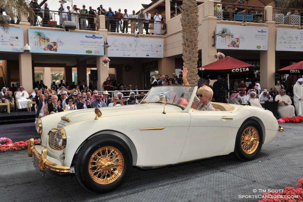 """1958 Austin-Healey 100-6 """"Goldie"""" won Best Restored Car"""