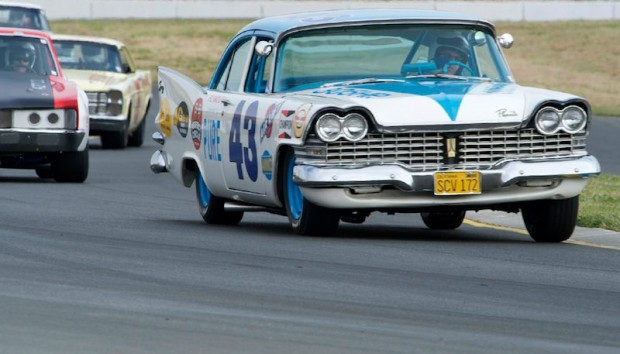 Dan Radowicz in his 1959 Plymouth Savoy R