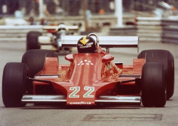 Derek Daly at the wheel of Ensign F1