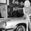 Diana Dors with the 1964 Maserati Mistral 3.7 Spider